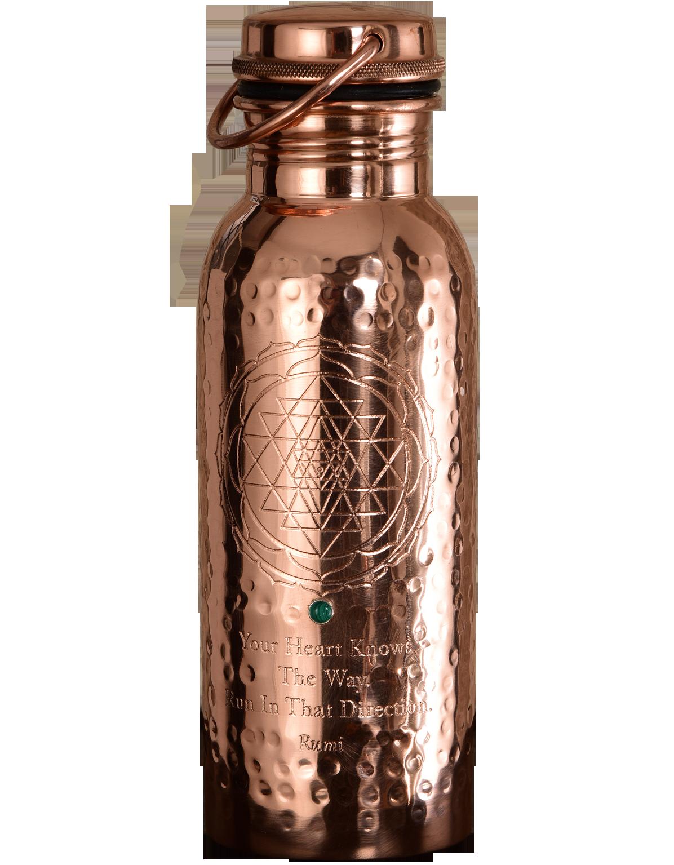 Ayurveda Wellness Copper Bottle Sri Yantra